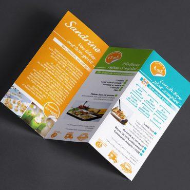 Flyer Triptique Sandrine cuisine