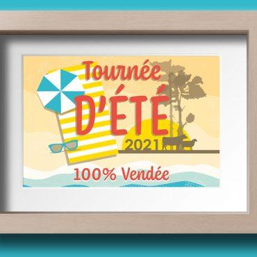 Identité visuelle Tournée d'été 100% Vendée